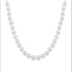 7.5-8mm Genuine Round Pearl Necklace